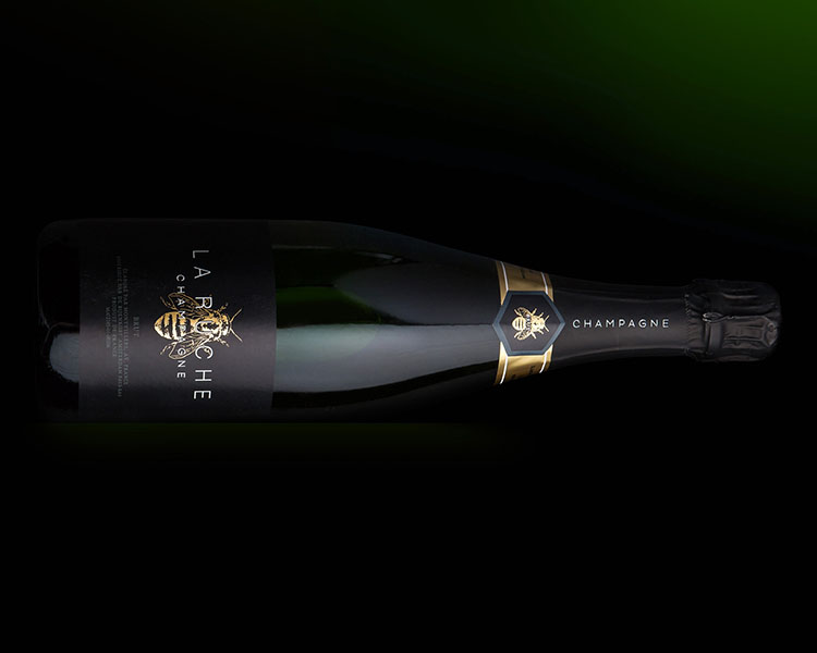 client; bijenkorf project; packaging design own brand champagne : packaging design & art direction