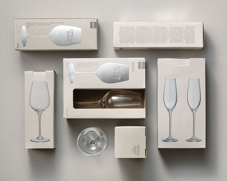 client; hema project; packaging design for glasses : concept, design & art direction
