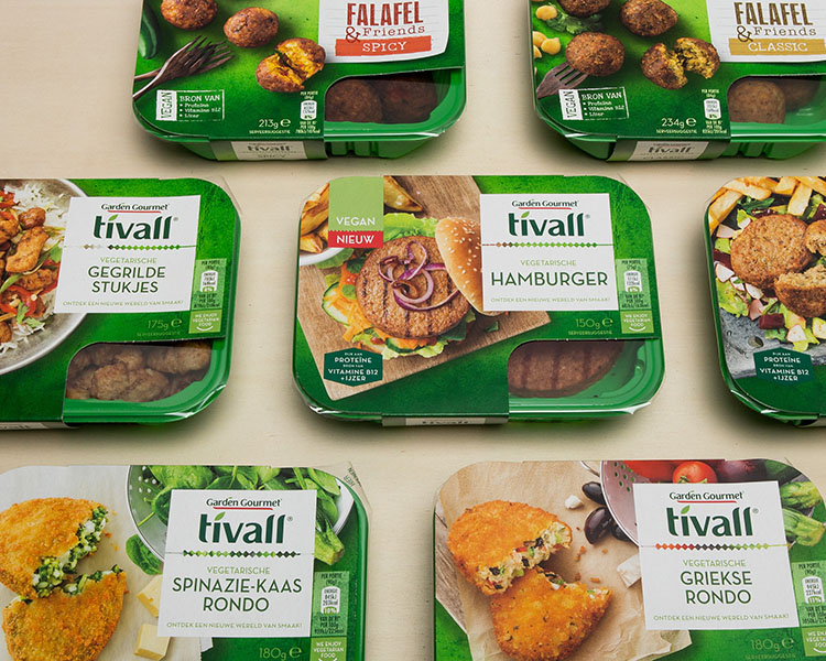 client; nestlé tivall project; rebranding brands tivall, hälsans kök and garden gourmet : concept, design & art direction
