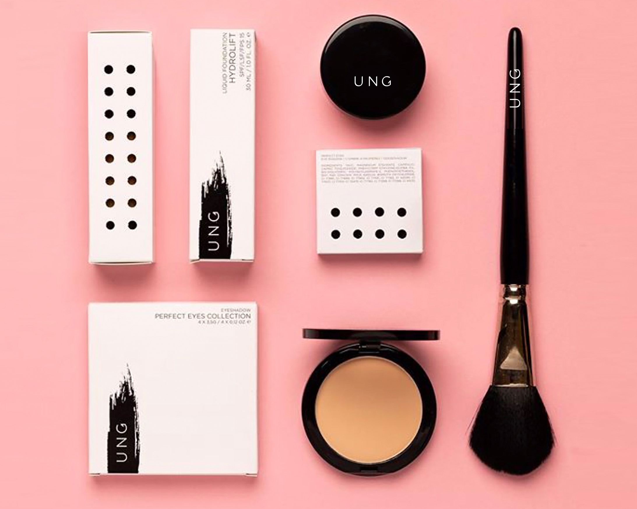 client; ung cosmeticsproject; brand development new make up brand: interior/brandconcept, naming, design & art direction